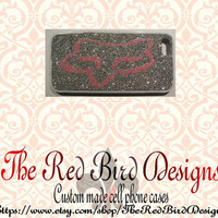 Glitter Sparkly Fox Racing iPhone 4/4S OR 5 Cell Phone Case