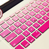 Pink gradient  Keyboard-Decal MacBook Macbook Keyboard Decal/Macbook Pro Keyboard Skin/Macbook Air Sticker/Macbook vinyl sticker