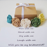 Bridesmaid proposal Will you be my bridesmaid gift box Maid of Honor Flower girl invitation Matron of Honor Secret message ring Bridal party