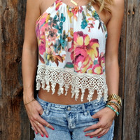 Secret Bloom Crochet Top - FINAL SALE