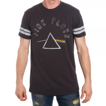 Pink Floyd Men's Black Heather Football Tee Shirts