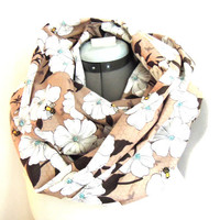 Infinity Scarf // Bee and flower