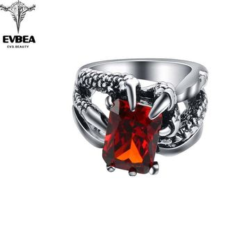 Graduation Hip Hop Rock Punk Claw Skull Adjustable Silver Plated Rings Bikers Motorcycle Men's & Boys'  Party Jewelry