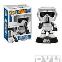 Funko Pop! Star Wars: Biker Scout - Bobble-Head