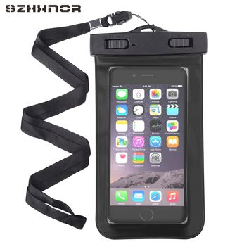 SZHXNOR waterproof bag case pouch beach dry universal mobile phone case for Samsung s8 s7 iphone 4 5 6 7 xiaomi 4x 3c lg g6