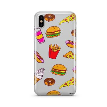 Fast Food - Clear TPU Case Cover