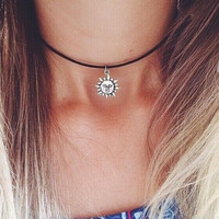 #sunflower #choker #necklace