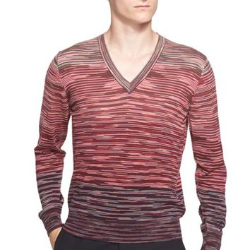 Men's Missoni Space Dye Wool V-Neck Sweater,