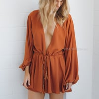 clara playsuit - rust