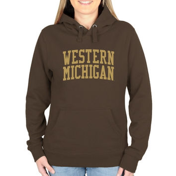 Western Michigan Broncos Ladies Basic Arch Pullover Hoodie - Brown