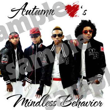 Custom I Love Mindless Behavior Iron On T-shirt Transfers - Add A Name
