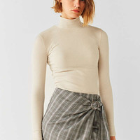 Side Party Justine Buckle Wrap Mini Skirt | Urban Outfitters