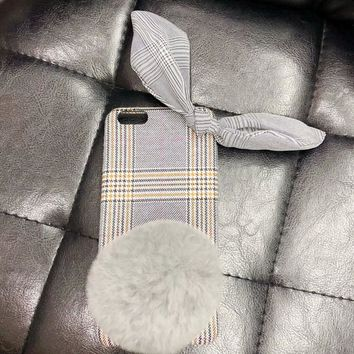 Squishy iphone Cloth Gray Checked Phone Case - Free Shipping