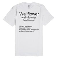 wallflower-Unisex White T-Shirt