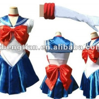 free shipping Sailor Moon costume women adult Sailor Cosplay costume japanese anime halloween costumes for women