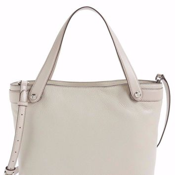 new Michael Kors Hyland Medium Convertible Shoulder Tote Cement Gray Bag NWT