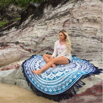 PEAPGC3 Tessel Drip Fringe colorful beach swimming bikini cover up veil dress Quality swimwear shower towel cloth Yoga floor mats sale