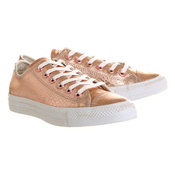 Converse All Star Low Rose Metallic Snake Leather - Unisex Sports