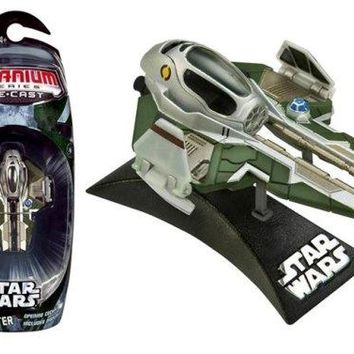 "Star Wars Titanium Series 3"" Die Cast Metal Anakin's Starfighter Vehicle"