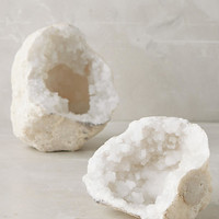 Calcite Geode Pair