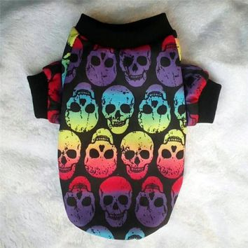 Skull Skulls Halloween Fall  Dog Clothes Autumn Winter Pet Clothes for Small Dog Pet Coat Jacket Outfit shih tzu Yorkies Puppy Chihuahua Dog Clothing Calavera