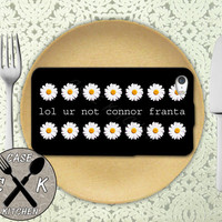 Lol Ur Not Connor Franta Quote Daisy Pattern Custom Rubber Tough Phone Case For The iPhone 4 and 4s and iPhone 5 and 5s and 5c