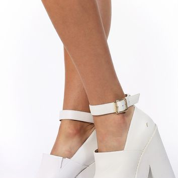 Windsor Smith Pop Heels White