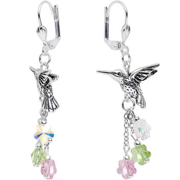 Handcrafted Hummingbird Earrings Created with Swarovski Crystals