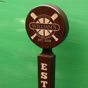 Sports Bar & Grill Custom Beer Tap Handle