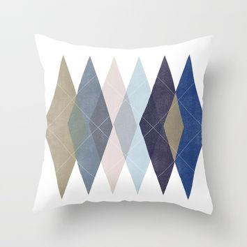 Not Your Father's Argyle Throw Pillow by enframe photography