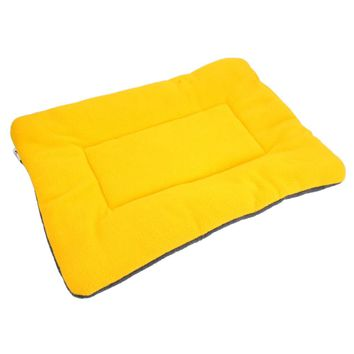 Washable Soft Comfortable Silk Bed Pad for Pet Yellow S