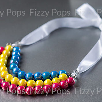 1 Chunky Necklace DIY Kit - Over the Rainbow Necklace