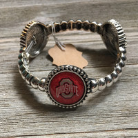 Ohio State Silver Stretch Bracelet