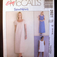 "Semi-fitted Dress or Jumper Misses Size 12, 14, 16 Bust 34, 36, 38"" McCall's 2621 Easy to Sew, Cut to Fit, Sewing Pattern Uncut"