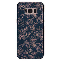 Floral Rose Gold Chrome Samsung Galaxy Case