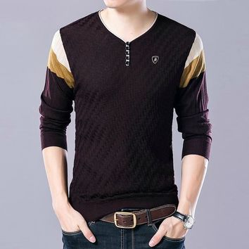 Warm Slim Fit Knitted Wool Pullover Sweater