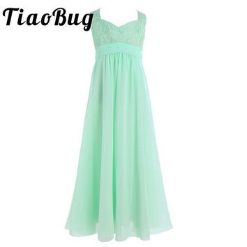 Girl Chiffon Flower Lace Dress Children Kids Infant Toddler Elegant Dress Pageant Vestido Infantil Tulle Party Dress for Wedding