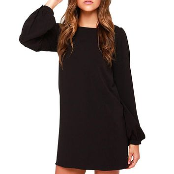 Dresses Casual Long Sleeve Mini Dress Loose Party Dress