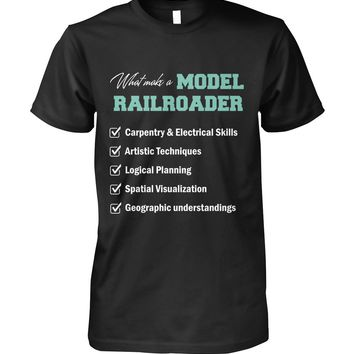 What make a model railroader shirt Unisex Cotton Tee
