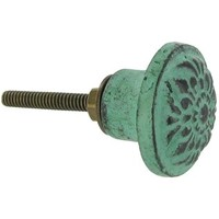 Turquoise Distressed Metal Knob | Shop Hobby Lobby
