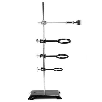61cm Lab Supppot Stand Table Base Lift Bracket Flask Condenser Laboratory Ring Clamp Clip Holder