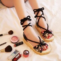 Lace Up Sandals for Women B06418