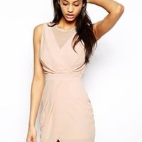 TFNC Dress With Mesh Top And Wrap Skirt