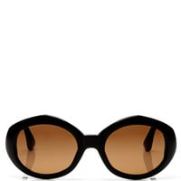 + Dries Van Noten Oval Acetate Sunglasses by Linda Farrow Now Available on Moda Operandi