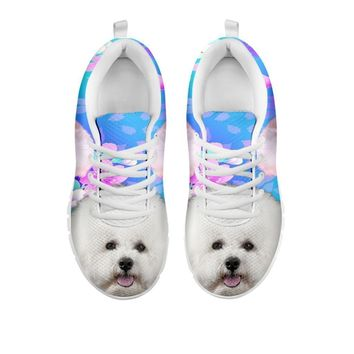 Cute Bichon Frise Print Sneakers For Women- Free Shipping-For 24 Hours Only