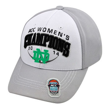 Top of the World Notre Dame Fighting Irish 2014 ACC Women's Basketball Conference Tournament Champions Locker Room Hat - Gray