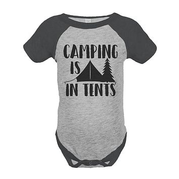 Custom Party Shop Unisex Camping is in Tents Outdoors Raglan Onepiece