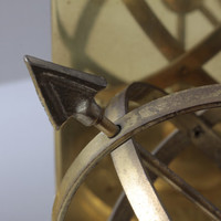 Vintage Brass Armillary Sphere Sundial Bookends Celestial Sphere Downton Abbey Style