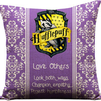 harry potter, hufflepuff, harry potter pillow, hufflepuff pillow, harry potter