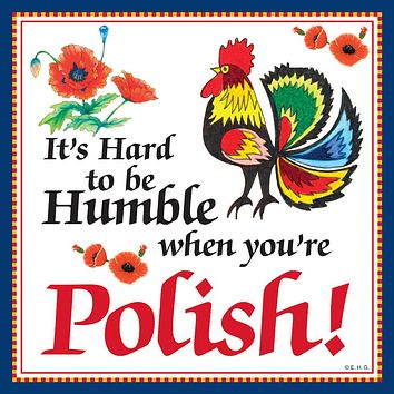 Ceramic Wall Plaque: Humble Polish